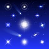 Conjunto de estrellas Fotografía de archivo libre de regalías