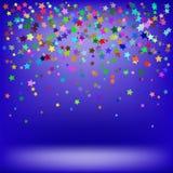 Conjunto de estrellas coloridas Imagen de archivo