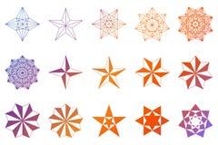 Conjunto de estrellas Dimensiones de una variable geométricas Vector Fotos de archivo