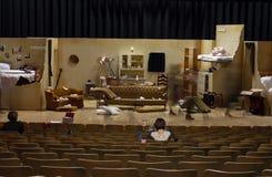 Conjunto de etapa del juego de la High School secundaria Imagen de archivo
