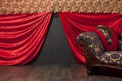 Conjunto de etapa miniatura del teatro Fotografía de archivo libre de regalías