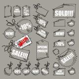 Conjunto de etiquetas ilustración del vector