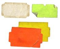 Conjunto de etiquetas adhesivas sucias fotografía de archivo