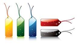 Conjunto de etiquetas coloreadas del vector Imagen de archivo libre de regalías