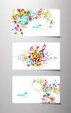 Conjunto de etiquetas coloridas abstractas de la música. Foto de archivo