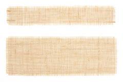 Conjunto de etiquetas de la harpillera. Arpillera. Canva Fotos de archivo