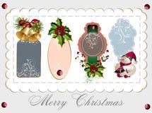 Conjunto de etiquetas de la Navidad Fotos de archivo libres de regalías