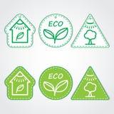 Conjunto de etiquetas del eco Fotografía de archivo libre de regalías
