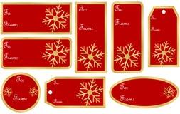 Conjunto de etiquetas del regalo de la Navidad Fotografía de archivo