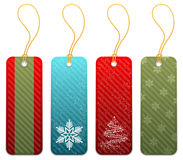 Conjunto de etiquetas del regalo de la Navidad Fotos de archivo libres de regalías