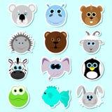 Conjunto de etiquetas engomadas Conjunto de animales lindos de la historieta Conjunto 2 Libre Illustration