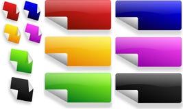 Conjunto de etiquetas engomadas del color Imagen de archivo