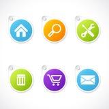 Conjunto de etiquetas engomadas del icono del asunto Imagen de archivo libre de regalías