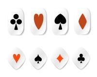 Conjunto de etiquetas engomadas del juego de la tarjeta Imagen de archivo libre de regalías