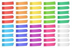 Conjunto de etiquetas engomadas del papel del vector ilustración del vector