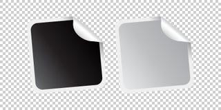 Conjunto de etiquetas engomadas en blanco Etiquetas promocionales vacías Illustra del vector ilustración del vector