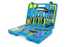Conjunto de ferramentas com muitas ferramentas Fotografia de Stock Royalty Free