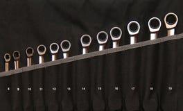 Conjunto de ferramentas da chave de chave inglesa Foto de Stock