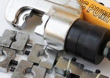 Conjunto de ferramentas de friso do cabo hidráulico Fotografia de Stock Royalty Free