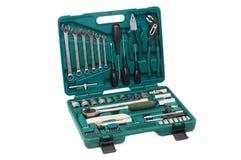 Conjunto de ferramentas de várias ferramentas na caixa Foto de Stock