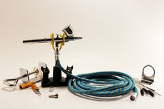 Conjunto de ferramentas do aerógrafo Imagem de Stock Royalty Free