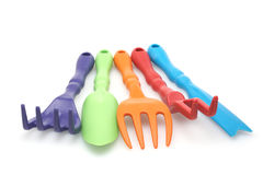 Conjunto de ferramentas do jardim da cor Fotos de Stock Royalty Free