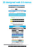 Conjunto de ferramentas dos desenhadores do Web - coleção do gráfico do Web Imagem de Stock