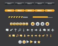 Grupo do menu do botão Imagens de Stock Royalty Free