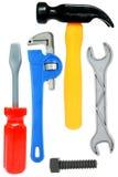 Conjunto de ferramentas isolado do brinquedo Foto de Stock