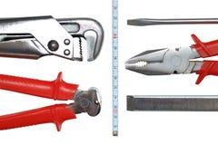 Conjunto de ferramentas isolado no branco Foto de Stock Royalty Free