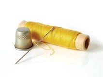 Conjunto de ferramentas Sewing Fotografia de Stock