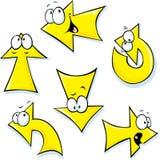 Conjunto de flechas de la historieta stock de ilustración