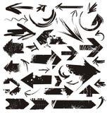 Conjunto de flechas del grunge Fotografía de archivo