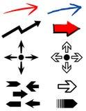 Conjunto de flechas. JPG + vector Imagen de archivo libre de regalías
