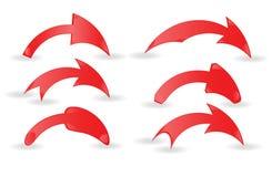 Conjunto de flechas rojas Fotografía de archivo libre de regalías