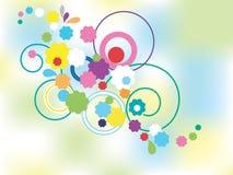 Conjunto de flor Imagens de Stock Royalty Free