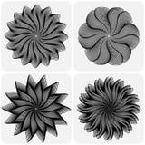 Conjunto de flores abstractas Vector Foto de archivo