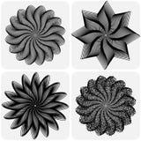 Conjunto de flores abstractas Vector Fotografía de archivo libre de regalías