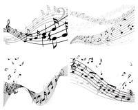Conjunto de fondo de la música Imagenes de archivo