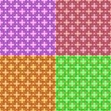 Conjunto de fondo inconsútil del vector Textura elegante moderna de cuadrados que entrelazan Repetición de la rejilla geométrica  stock de ilustración