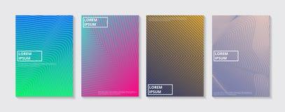 Conjunto de fondos abstractos Diseño mínimo de las cubiertas del vector