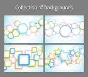 Conjunto de fondos coloridos Imágenes de archivo libres de regalías