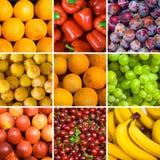 Conjunto de fondos de la fruta Fotos de archivo