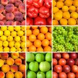 Conjunto de fondos de la fruta imagen de archivo libre de regalías