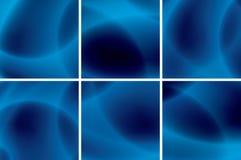 Conjunto de fondos de neón azules abstractos Foto de archivo libre de regalías