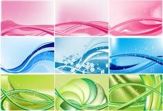 Conjunto de fondos del extracto del color Imagen de archivo