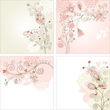 Conjunto de fondos florales Imagen de archivo libre de regalías