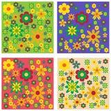 Conjunto de fondos florales Imágenes de archivo libres de regalías
