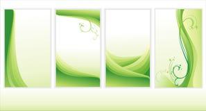 Conjunto de fondos verdes.