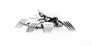 Conjunto de forkes fotografía de archivo libre de regalías